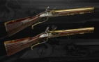 VERY FINE PAIR OF 40 BORE AUSTRIAN FLINTLOCK SPORTING CARBINES BY PERRET A GRATZ CIRCA 1740