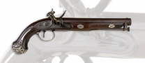 FINE QUALITY SILVER MOUNTED OFFICERS PISTOL BY TATHAM AND EGG - reserved