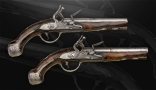Sold - PAIR OF NORTH ITALIAN PISTOLS BY N DUINA- Mid 18th Century