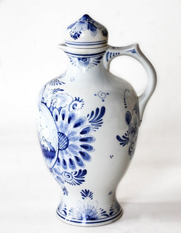 Ref 1351, DUTCH DELFT PITCHER, LIMITED EDITION 25/40 MID 19TH CENTURY