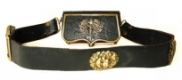 LARGE FRENCH MILITARY DRESS POUCH AND BELT : MEDICAL CORPS, circa 1840