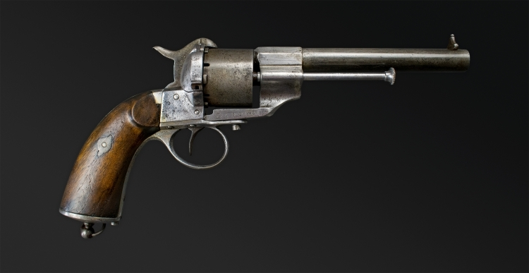 FRENCH 11MM MODEL 1858 SERVICE REVOLVER, E LEFAUCHEUX, PARIS