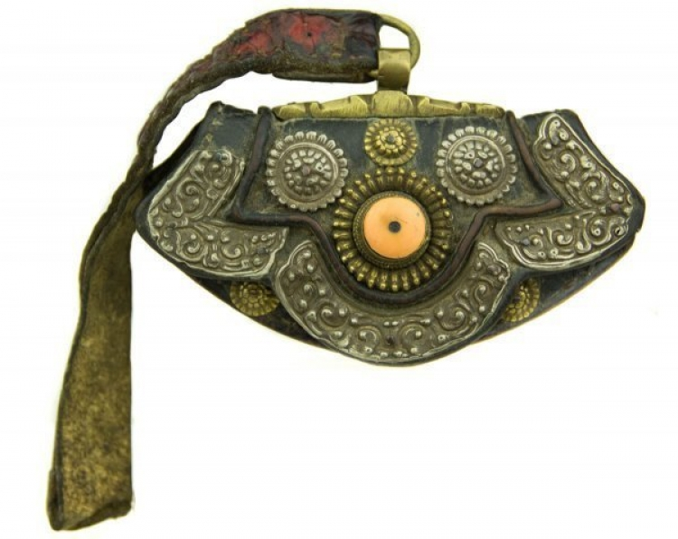 Sold - INTERESTING 19TH CENTURY TIBETAN MONEY PURSE