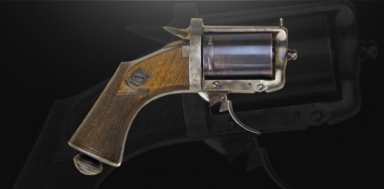 sold - FINE AND VERY RARE 6 SHOT PEPPERBOX CENTRE-FIRE REVOLVER BY DEVISME A PARIS : 7MM (DEVISME) - sold