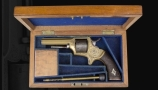 CASED .30, 6 SHOT RIMFIRE BRASS FRAMED TRANTER REVOLVER