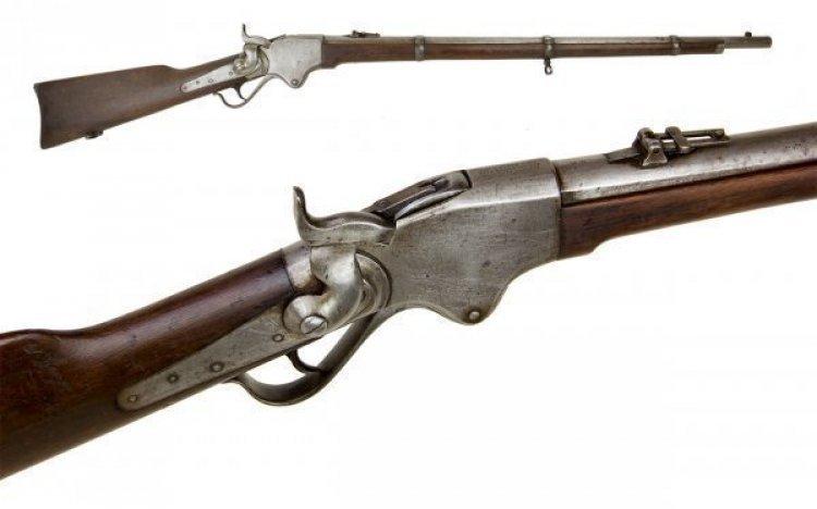 Excellent Spencer Model 1860 Infantry Rifle In 56 50