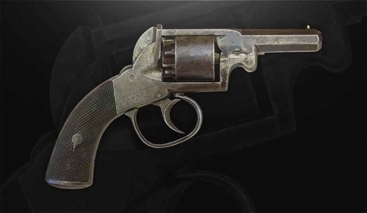 Sold - WEBLEY BENTLEY 80 BORE SELF COCKING FIVE SHOT CLOSED FRAME REVOLVER -