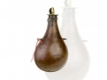 sold - UNUSUAL PEAR SHAPED POWDER FLASK WITH MEASURE - sold