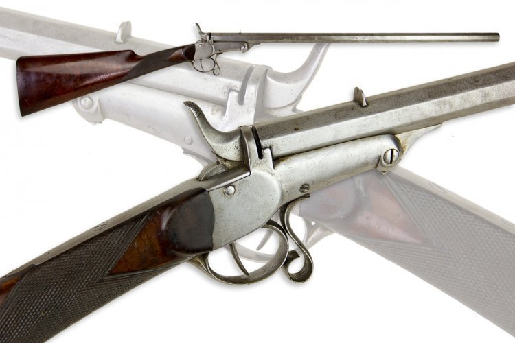 ENGLISH 7MM RIMFIRE SMOOTHBORE GALLERY RIFLE FOR REPAIR - SOLD | ROA