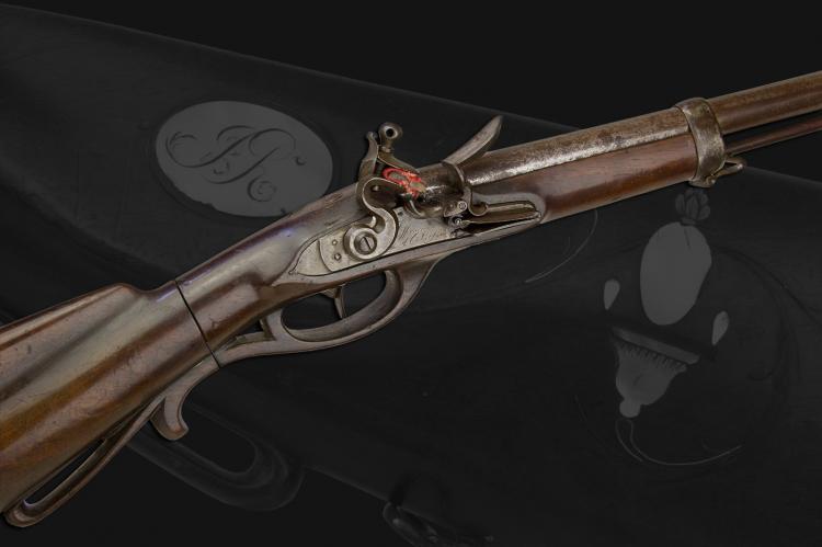 MOST UNUSUAL TAKE DOWN FLINTLOCK SPORTING GUN SIGNED J HERMANN COLOYNE