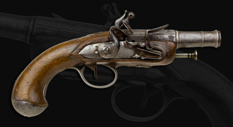 sold - CONTINENTAL CANNON BARRELED TRAVELLING PISTOL SECOND HALF OF THE 18TH CENTURY - sold