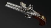 ENGLISH DOUBLE BARREL TAP ACTION PISTOL SIGNED THOMAS CIRCA 1775