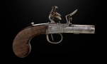 FLINTLOCK TURN-OFF BARREL POCKET PISTOL CIRCA 1800