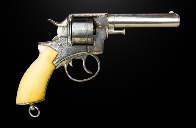 sold - .442 WEBLEY LARGE FRAME RIC, 6 SHOT REVOLVER SIGNED 'WEBLEY'S PATENT' sold