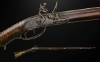 Sold - KENTUCKY LONG RIFLE, SIGNED GEORGE BLOOM