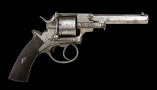 .44 RIMFIRE DOUBLE ACTION REVOLVER SIGNED 'WILLIAM POUNTNEY, OF WEBLEY TYPE
