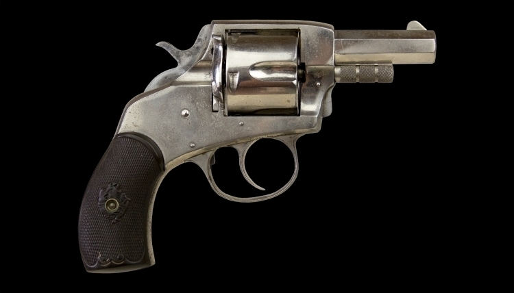 sold - .440 (SHORT) FIVE-SHOT REVOLVER SIGNED HARRINGTON & RICHARDSON, MODEL 'AMERICAN BULLDOG' - sold