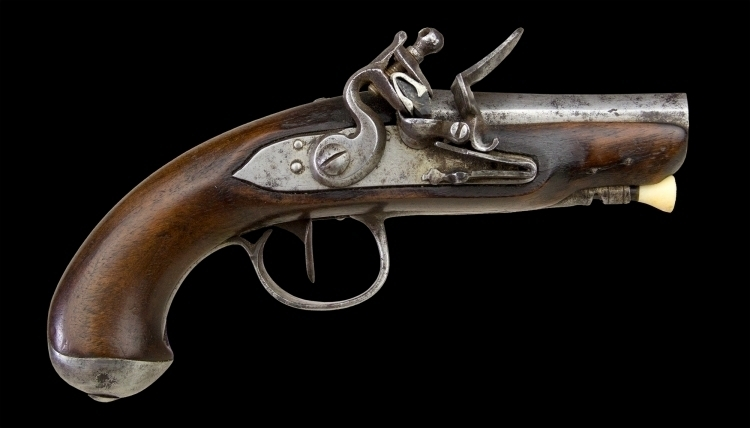 sold - FRENCH FLINTLOCK TRAVELLING PISTOL LAST QUATER OF THE 18TH CENTURY - sold