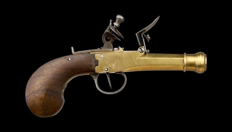 sold CONTINENTAL FLINTLOCK NAVAL PISTOL CIRCA 1800 sold