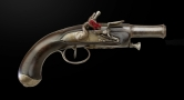 FRENCH FLINTLOCK TRAVELLING PISTOL CIRCA 1800