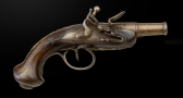 Reserved WB - SMALL FRENCH FLINTLOCK POCKET PISTOL OF HIGH QUALITY, CIRCA 1790