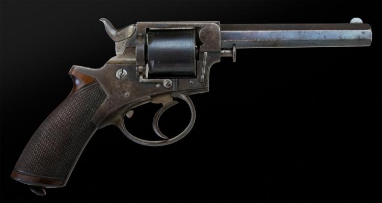 Sold - .38 RIMFIRE FIVE SHOT TRANTERS PATENT REVOLVER WITH MUCH ORIGINAL FINISH