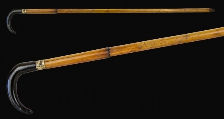 Sold - 7MM WALKING CANE GUN, CIRCA 1880, DUMONTHIER TYPE