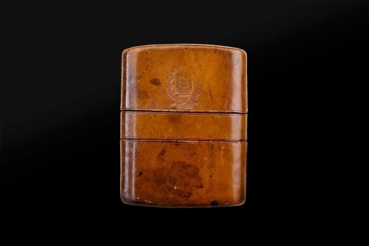 CARTOUCHIERE FOR 10 SIXTEEN BORE PIN-FIRE CARTRIDGES, CIRCA 1870 - RARE