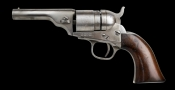 NICKEL PLATED COLT, FIVE SHOT .38CF MODEL POCKET NAVY CONVERSION REVOLVER