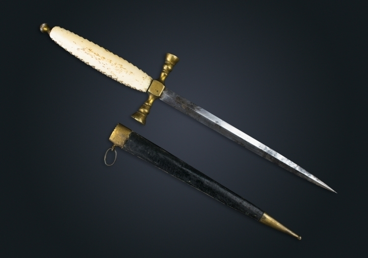 MID TO LATE 19TH CENTURY DAGGER WITH IVORY GRIP