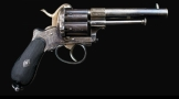 sold - UNUSUAL LARGE FRAME 12MM LEFAUCHEUX SYSTEM 6 SHOT REVOLVER - sold