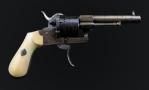 FINE 7MM, 6 SHOT, LEFAUCHEUX SYSTEM REVOLVER SIGNED 'RAYET FRERS BREVET'