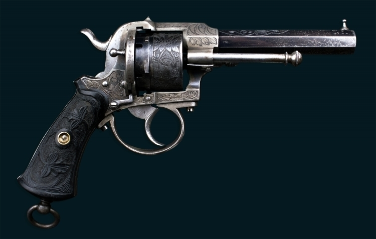 Sold - 6 SHOT, 9MM LEFAUCHEUX SYSTEM REVOLVER OF QUALITY MANUFACTURE
