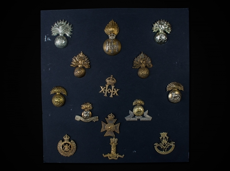 COLLECTION OF HELMET/CAP BADGES - 19TH & 20TH CENTURY - sold