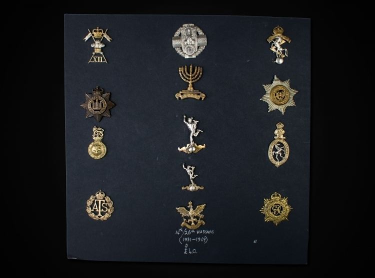 sold - COLLECTION OF HELMET/CAP BADGES - 19TH & 20TH CENTURY