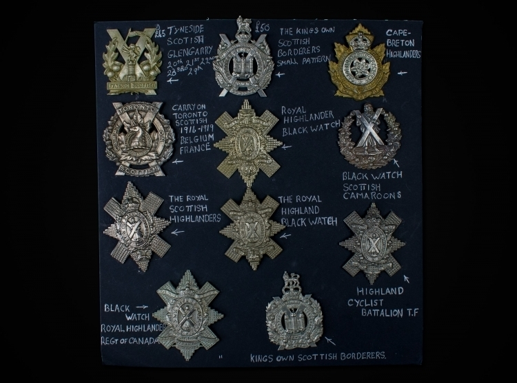 COLLECTION OF GLENGARRY BADGES 19TH & 20TH CENTURIES sold