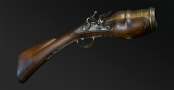 RARE FRENCH FLINTLOCK HAND-MORTAR SIGNED 'MOYNAT A LYON' CIRCA 1780