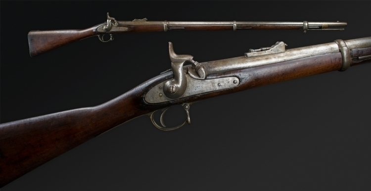 Sold - ENFIELD THREE BAND .577 SERVICE MUSKET, 1862 - sold