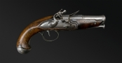 sold - FRENCH LATE 18TH CENTURY TRAVELLING PISTOL - sold