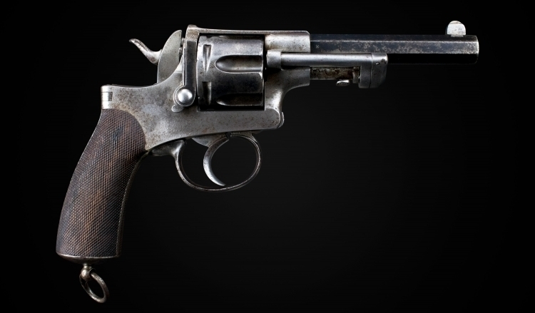 sold - RARE FRENCH 11MM SERVICE REVOLVER OF FANGUS MAQUAIRE TYPE - sold