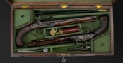 SUPERB PAIR OF FLINTLOCK DUELLING PISTOLS SIGNED BENNETT ROYAL EXCHANGE