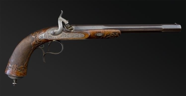 Sold - SINGLE SHOT TARGET/DUELLING PISTOL SIGNED GASTINE RENETTE A PARIS - SOLD