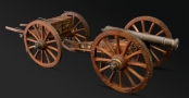 DETAILED & FINELY CONSTRUCTED MODEL OF A 19TH CENTURY FIELD CANNON AND LIMBER