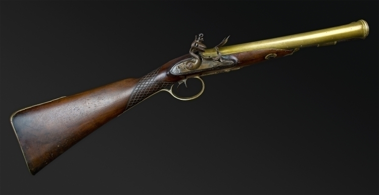 POSSIBLY UNIQUE DOUBLE BARREL COACHING CARBINE SIGNED BLAKE, LONDON
