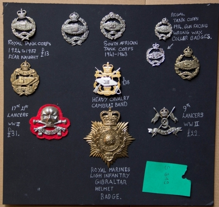 COLLECTION OF MILITARY CAP BADGES 20TH CENTURY - reserved