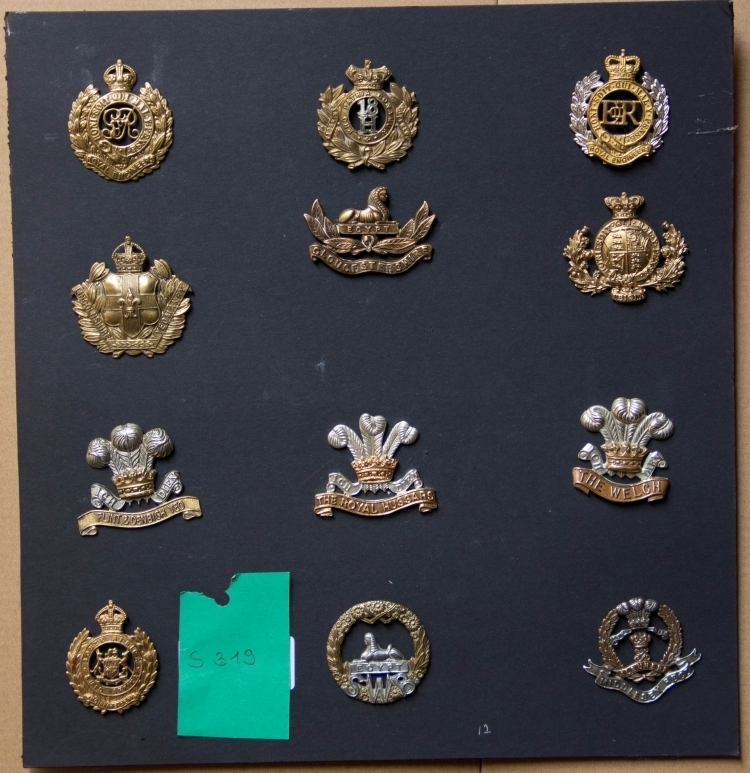 COLLECTION OF 19TH/20TH CENTURY CAP BADGES - reserved