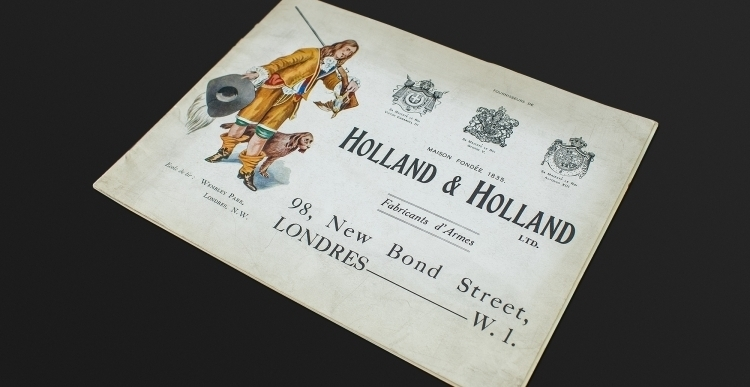 EXCEPTIONALLY RARE HOLLAND & HOLLAND CATALOGUE CIRCA 1930 FOR THE FRENCH MARKET