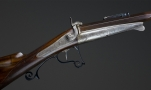 sold  FINE 14.2MM SPORTING RIFLE SIGNED LEFAUCHEUX INVENTEUR RUE VIVIENNE, 57 PARIS - reserved