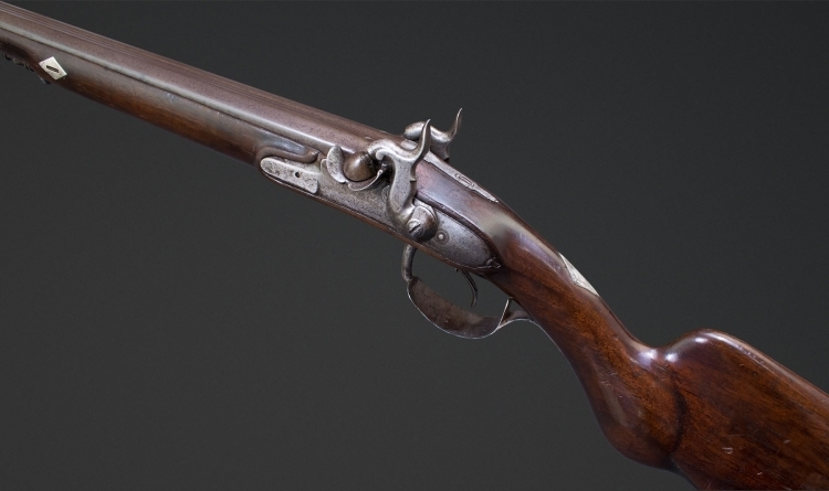 DOUBLE BARREL FRENCH SPORTING GUN BY DENIS A BAYEUX