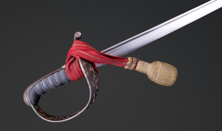 SWISS OFFICERS SWORD AND SCABBARD